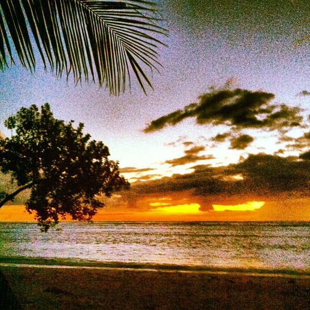 Raoni também fotografou o pôr do sol.