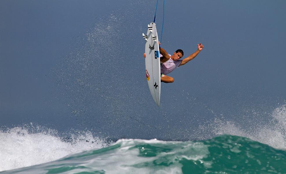 Julian Wilson, Stalefish. O arsenal do australiano é incrível! Foto: Andre Magarao