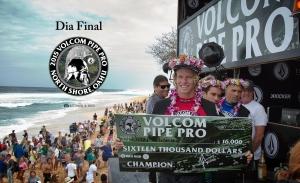John John Florence retoma seu título das mãos de Kelly Slater e agora é recordista do Volcom Pipe Pro, com quatro dos cobiçados troféus em forma de capacetes de guerra em  sua posse.