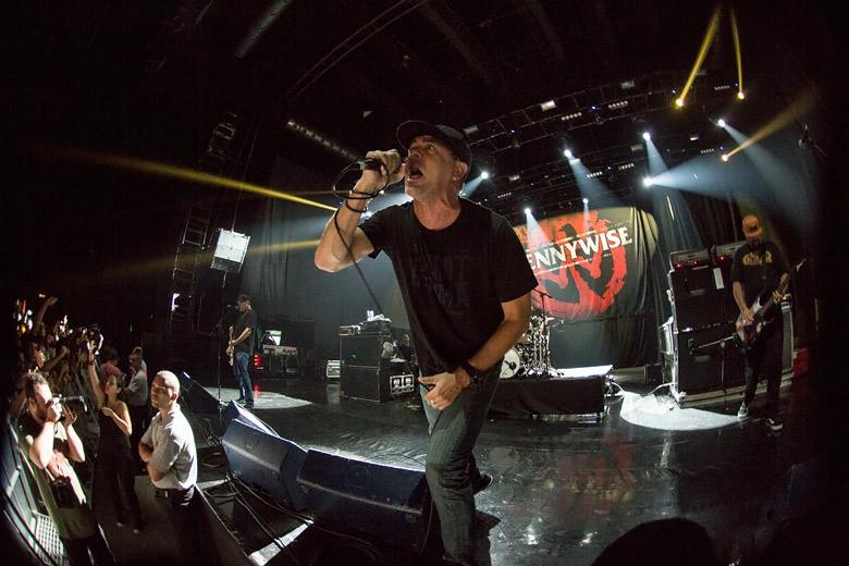 Jim Lindberg, frontman do Pennywise pela primeira vez no Brasil desde seu retorno à banda. Foto: Radio Layback